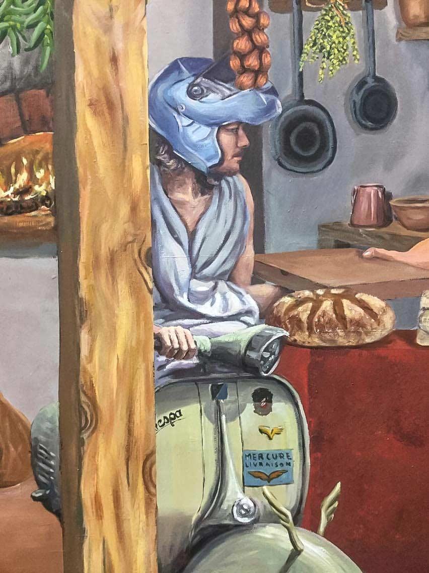 Fresque Trompe L Oeil Sur Le Thème De Pompéi La Fresquerie