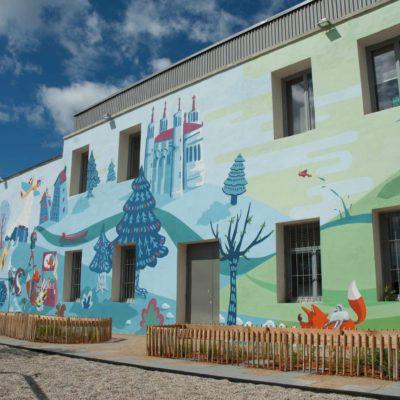 Fresque du parc Zenith à Lyon