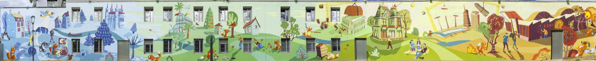 Fresque du Parc Zenith Lyon 3em