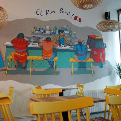 Fresque pour un restaurant Péruvien