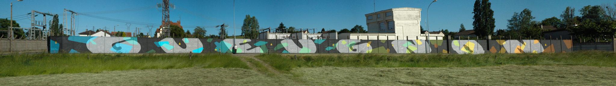 Fresque Montreuil isabelle cochereau pierre mathieu 2019