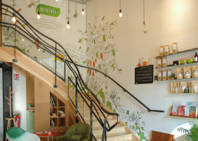 Pierre MATHIEU la fresquerie 2020-Photos fresque New tree Cafe